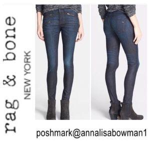 ⭐️Rag&Bone Kensington Zip Detail Skinny Jean sz 26